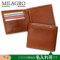 Milagro イタリア製ヌメ革タンポナートレザーシリーズ 二つ折り財布(小銭入れあり)