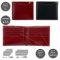 Milagro イタリア製ヌメ革タンポナートレザーシリーズ(テラローザ)二つ折り札入れ(小銭入れなし) ネイビー