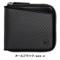ブラック Milagro(ミラグロ) リアルカーボンFラウンドファスナー2つ折り財布