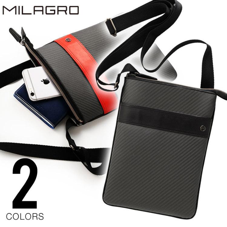 Milagro(ミラグロ) リアルカーボンF スリムショルダーバッグ