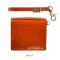 オレンジ:atelier hiro アトリエヒロ YANKEEカジュアル イタリアンレザー・薄型二つ折りウォレット