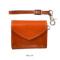 オレンジ:atelier hiro アトリエヒロ YANKEEカジュアル イタリアンレザー・ミニ三折ウォレット