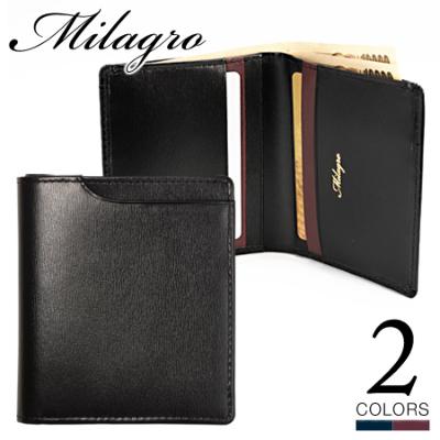 Milagro グレイスレザー スマート二つ折り 札入れ ミラグロ ohbp017