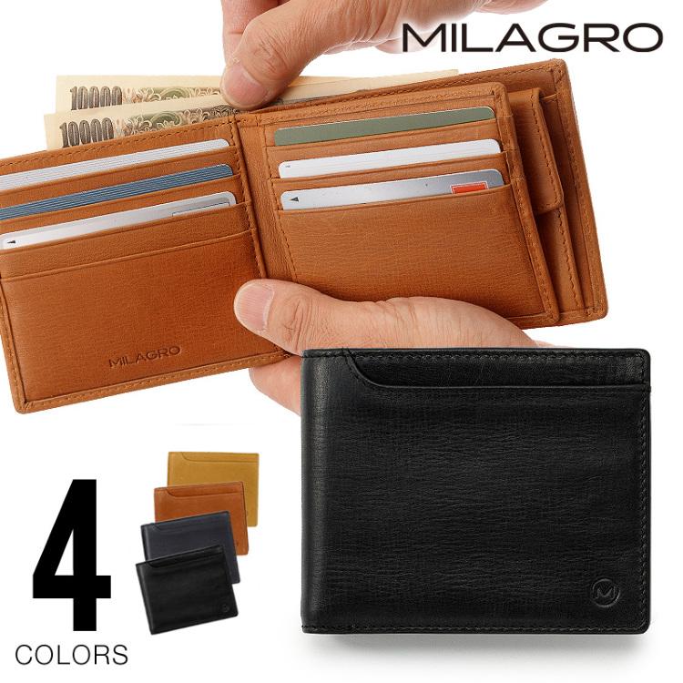 財布 折り財布 札入れ カード コイン 小銭 革 本革 レザー オイル Milagro ミラグロ
