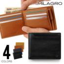 Milagro オイルプルアップレザー ベラ付き2つ折り財布